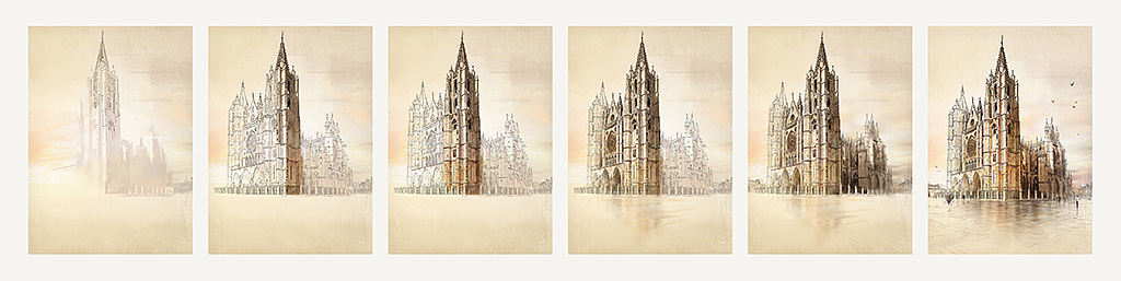 Proceso_dibujo_ilustracion_catedral_de_leon_javier_sahagun